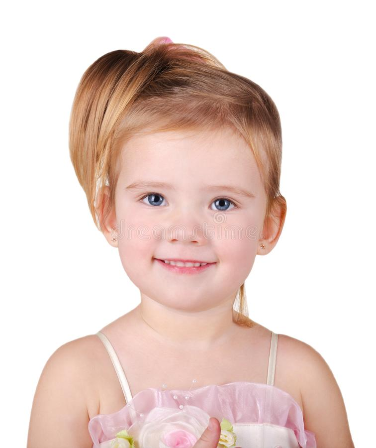 Download Portrait Of Beautiful Little Girl Stock Image - Image of emotion, hair: 22696159