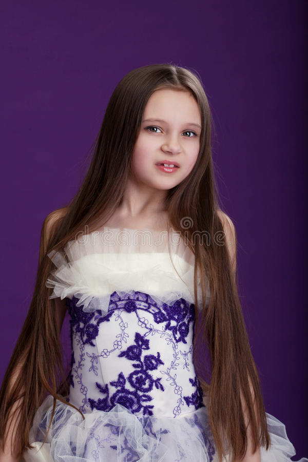 Download Portrait Of Beautiful Little Girl With Long Hair Stock Photo -  Image: 29963750