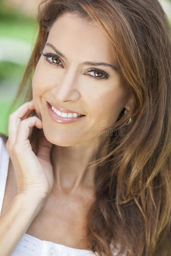 Download Portrait Of A Beautiful Middle Aged Woman Stock Photo - Image: 28145876