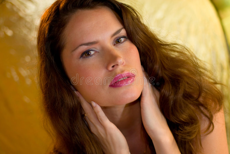 Portrait of a beautiful model royalty free stock photography