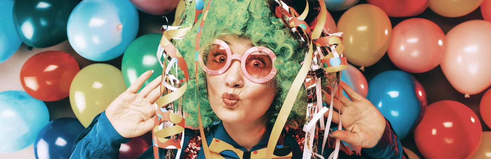 Crazy Young Party Man - Photo Booth Photo royalty free stock images