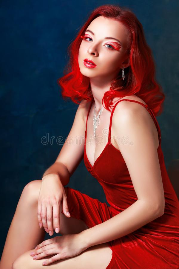 Red Lady stock images