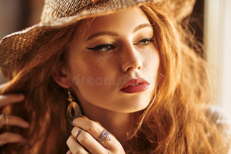 Earrings for girl stock photography