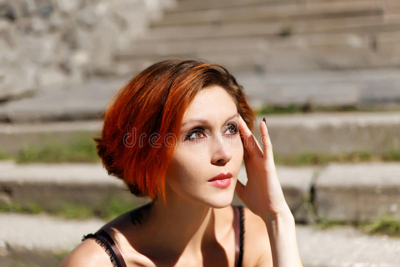Download Portrait Of Beautiful Redhead Girl Stock Photo - Image: 26527916