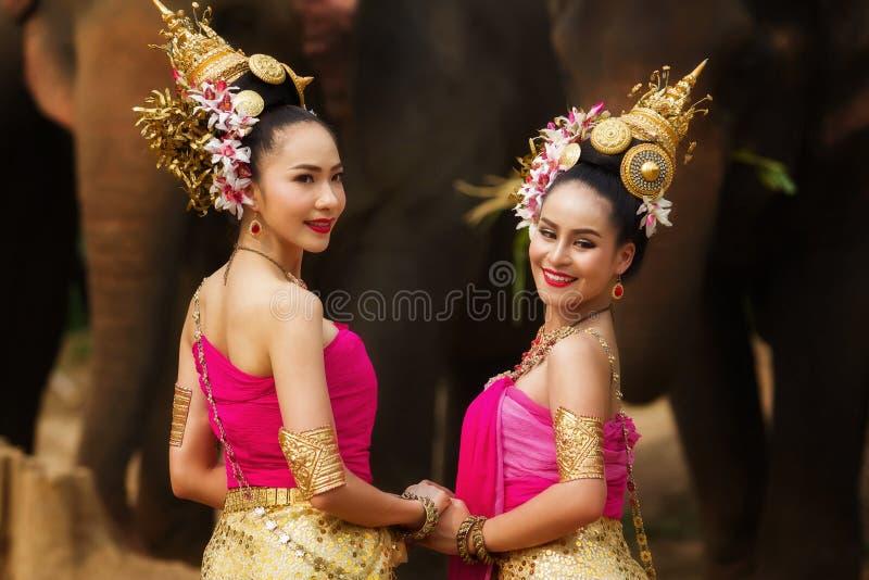 Portrait of Beautiful rural thai woman royalty free stock photo