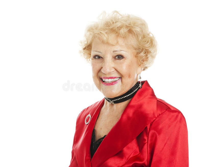 Portrait of Beautiful Senior Woman royalty free stock image