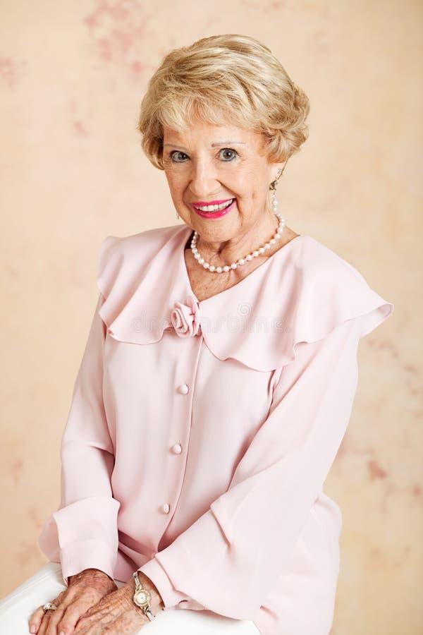 Portrait - Beautiful Senior Woman stock photo