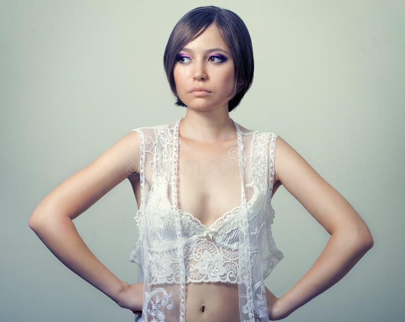 Portrait Of Beautiful Sensual Woman Stock Images
