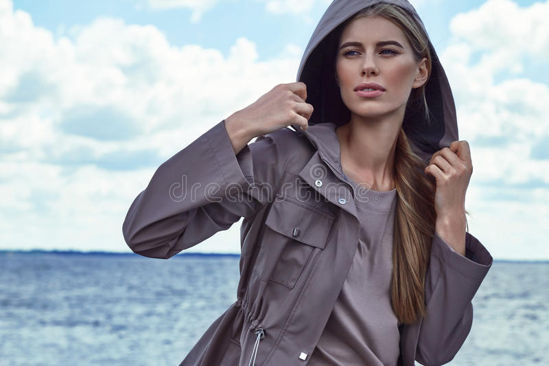 Portrait of beautiful perfect fashion woman model royalty free stock image