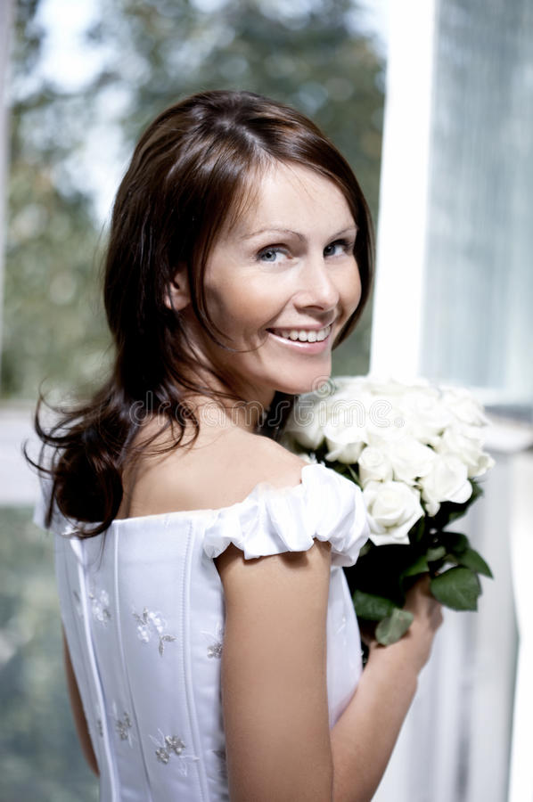 Download Portrait Of The Beautiful Smiling Bride Stock Photo - Image: 10936408