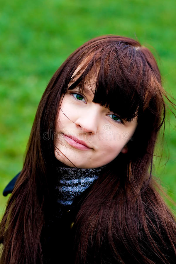 Portrait of the beautiful smiling girl stock photography
