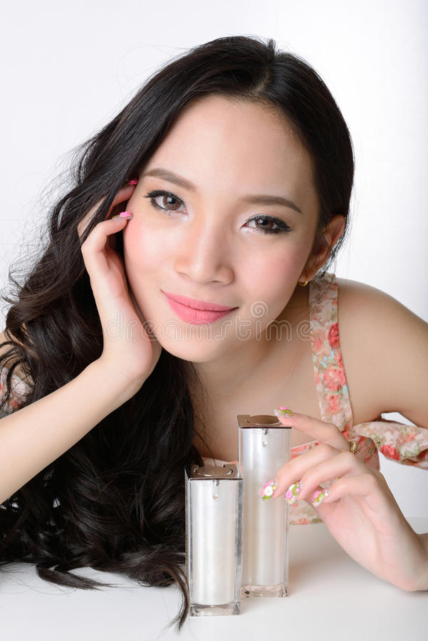 Download Portrait Of Beautiful Smiling Healthy Asian Woman Model Stock Photo - Image: 39481856