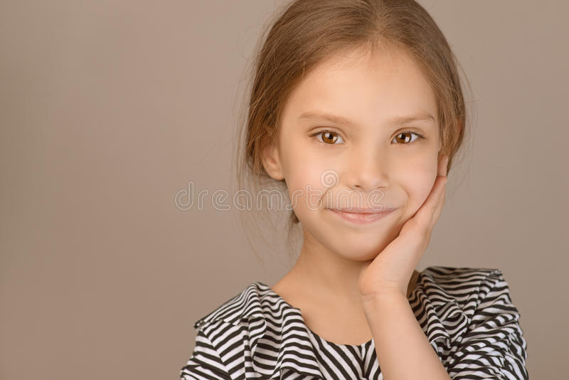 Portrait Of Beautiful Smiling Young Girl Stock Images