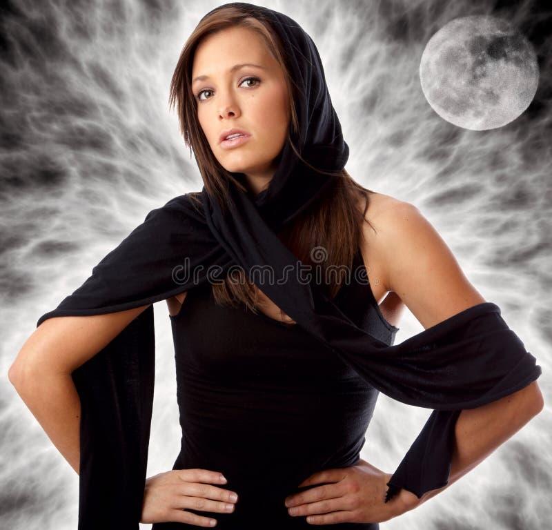 Portrait of beautiful sorceress Fantasy Background royalty free stock photo