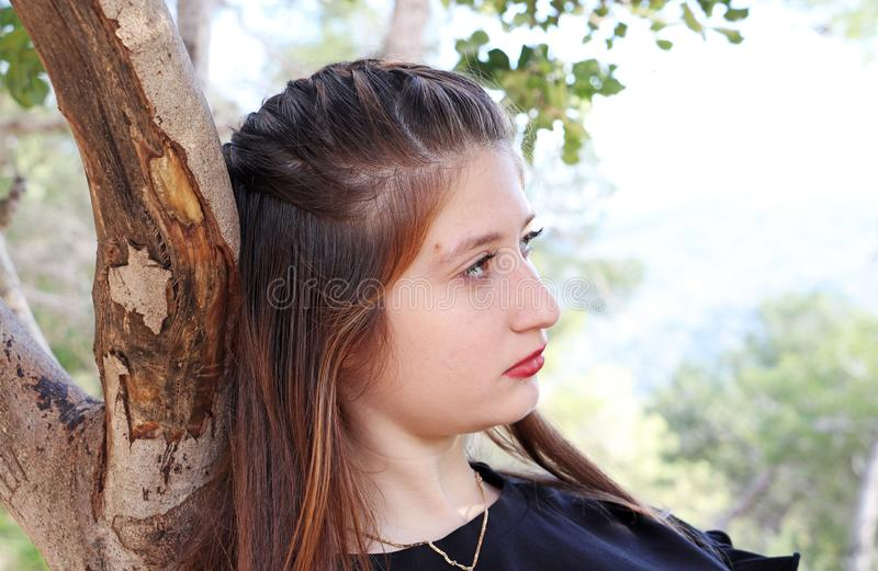 A portrait of a beautiful teenage girl royalty free stock photos