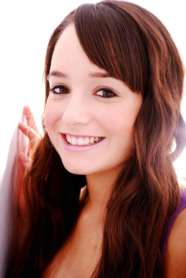 Portrait of beautiful teenager royalty free stock images