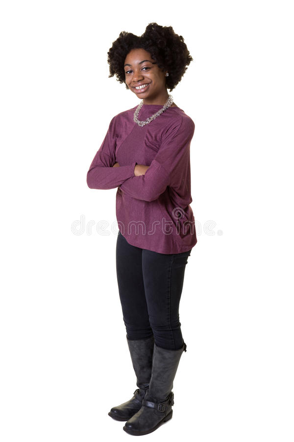 Portrait of a beautiful teenager royalty free stock photography