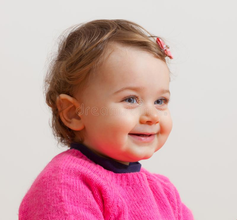 Portrait of beautiful toddler with blue eyes stock photos