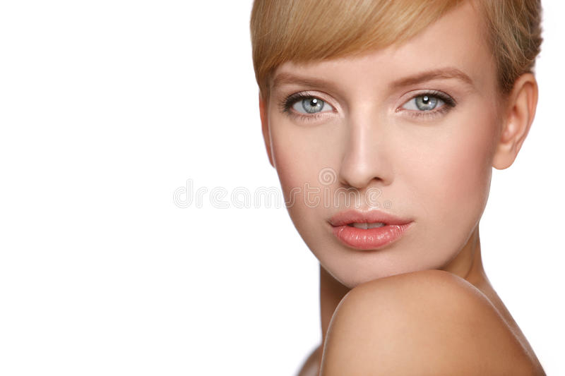 Portrait of a beautiful woman stock image