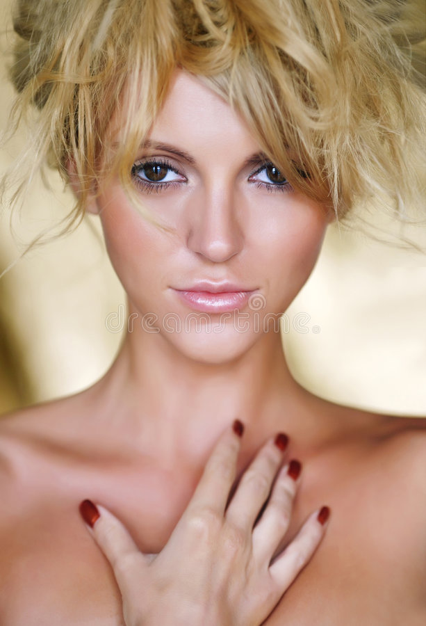 Download Portrait Of The Beautiful Woman Stock Photo - Image: 8250030