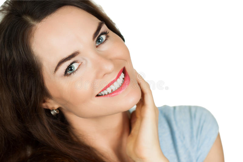 Portrait of beautiful woman royalty free stock image