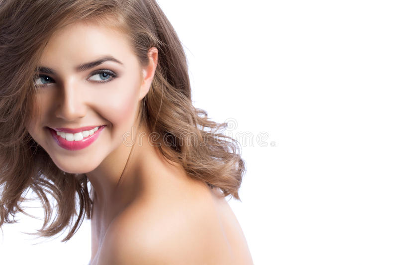 Portrait of a beautiful woman close up. royalty free stock photos