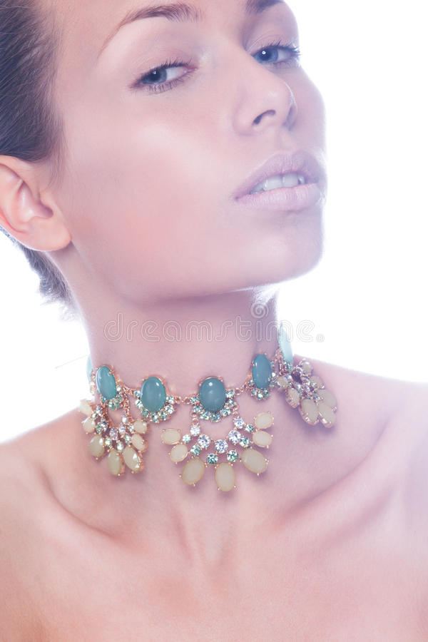 Download Portrait Of A Beautiful Woman. Jewelry, Make-up. Stock Image - Image: 32493275