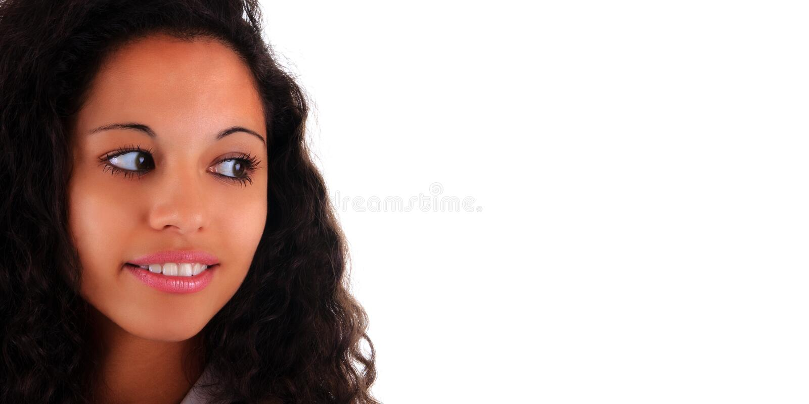 Portrait Beautiful Woman long hair royalty free stock images