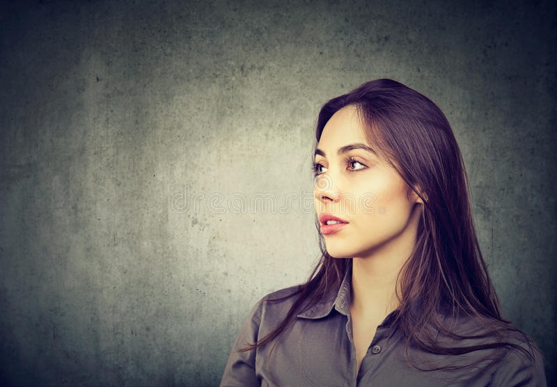 Portrait of a beautiful woman with perfect skin royalty free stock photo