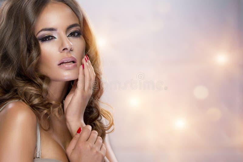 Portrait of a beautiful woman royalty free stock photo