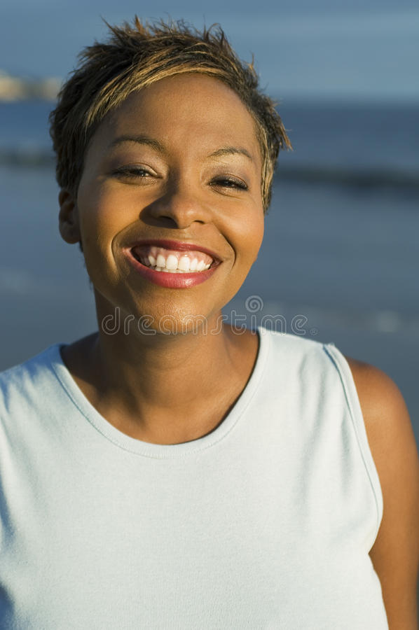 Portrait Of A Beautiful Woman Smiling royalty free stock image