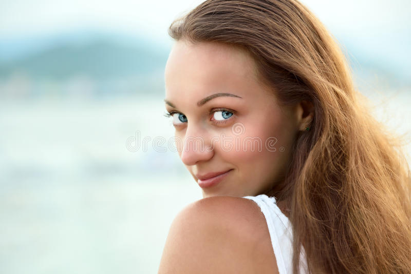 Portrait of beautiful woman royalty free stock images