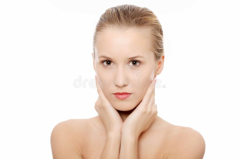 Portrait Of Beautiful Woman Before Spa Treatment Royalty Free Stock Images