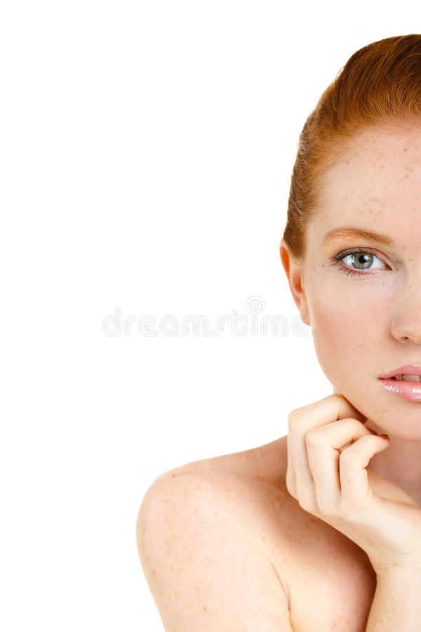 Portrait of Beautiful woman touching her face. Woman with Fresh Clean Skin, Beautiful Face. Pure Natural Beauty. Perfect Skin. Iso