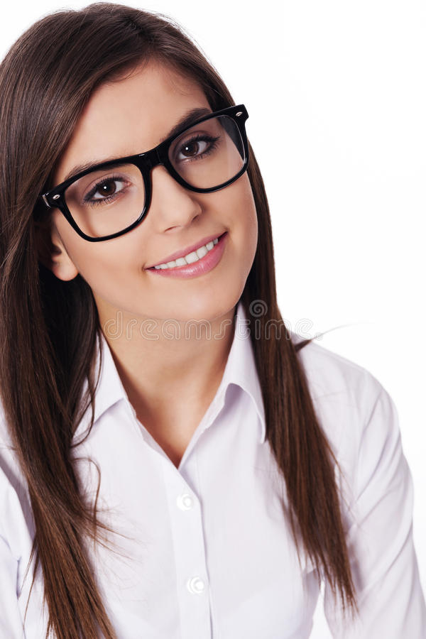 Download Young woman with glasses stock photo. Image of looking - 29876784