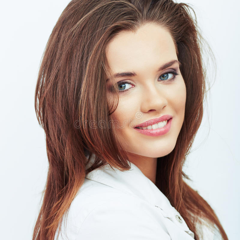 Download Portrait Of Beautiful Woman.  White Background. Stock Image - Image: 43455103