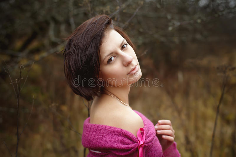 Portrait of a beautiful women outdoors royalty free stock photo