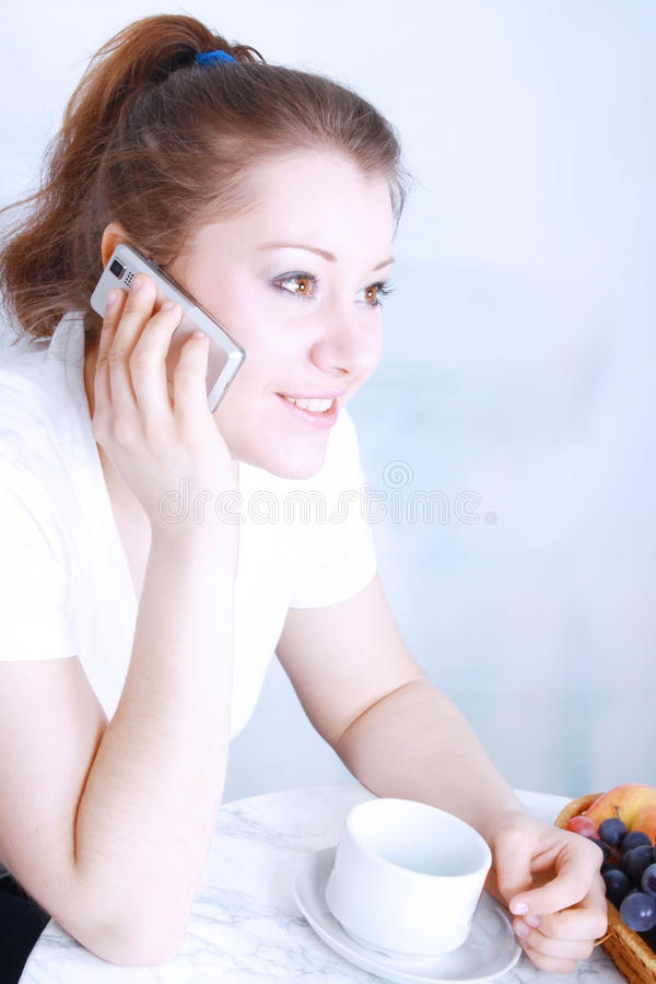 Portrait of beautiful young asian woman with phone