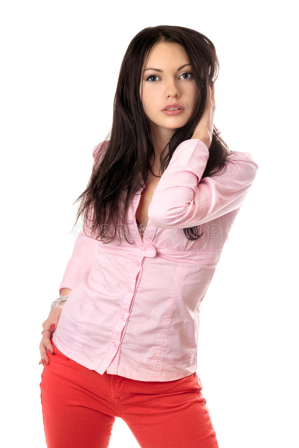 Download Portrait Of Beautiful Young Brunette Stock Photo - Image: 14857408