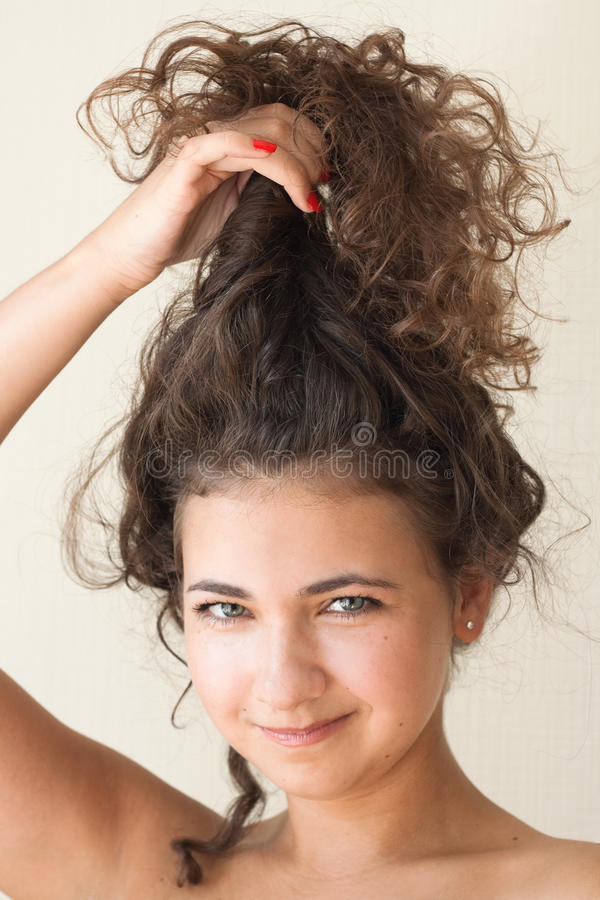 Portrait Of A Beautiful Young Brunette Royalty Free Stock Images