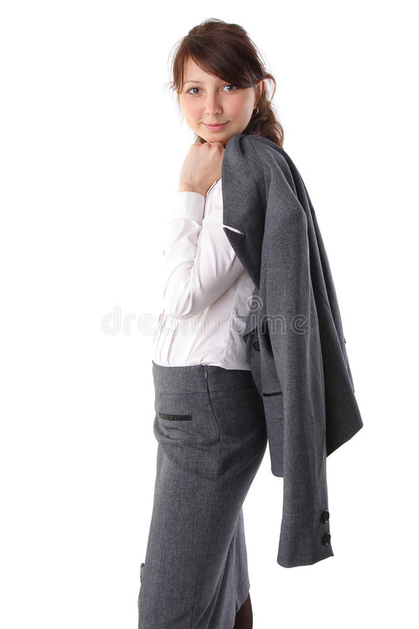 Portrait Of A Beautiful Young Businesswoman Royalty Free Stock Photos