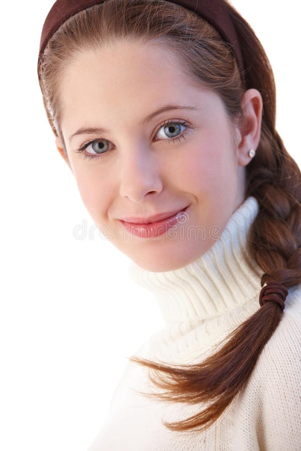 Download Portrait Of Beautiful Young Girl Smiling Stock Photo - Image: 20339392
