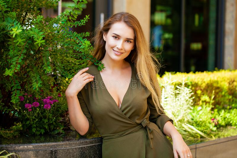 Portrait of beautiful young happy woman royalty free stock images