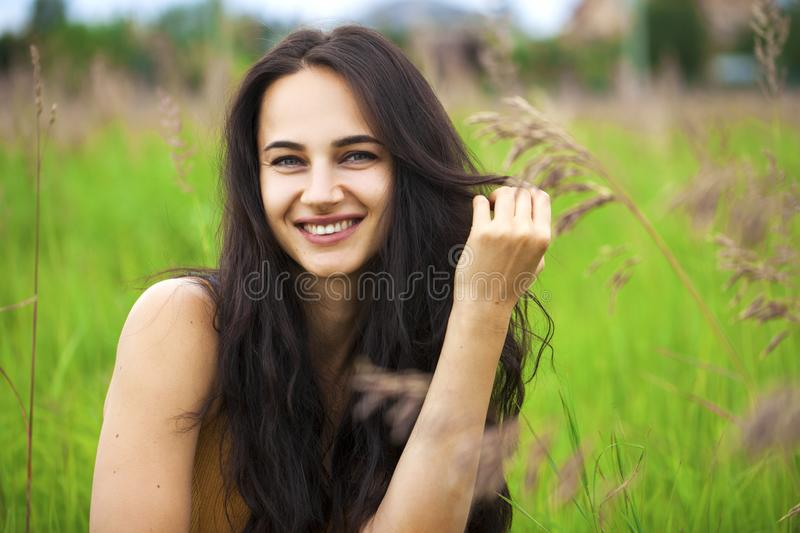 Portrait of beautiful young happy woman royalty free stock photography