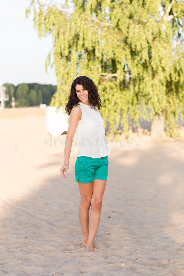 Download Portrait Of A Beautiful Young Happy Woman Stock Photo - Image: 83720994