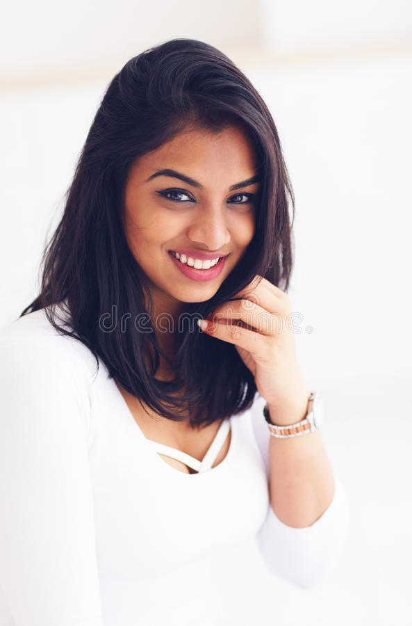 Portrait of beautiful young indian woman royalty free stock images