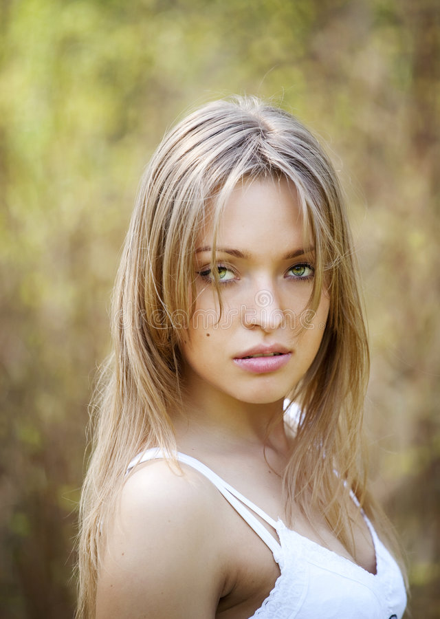 Portrait of a beautiful young lady royalty free stock photography