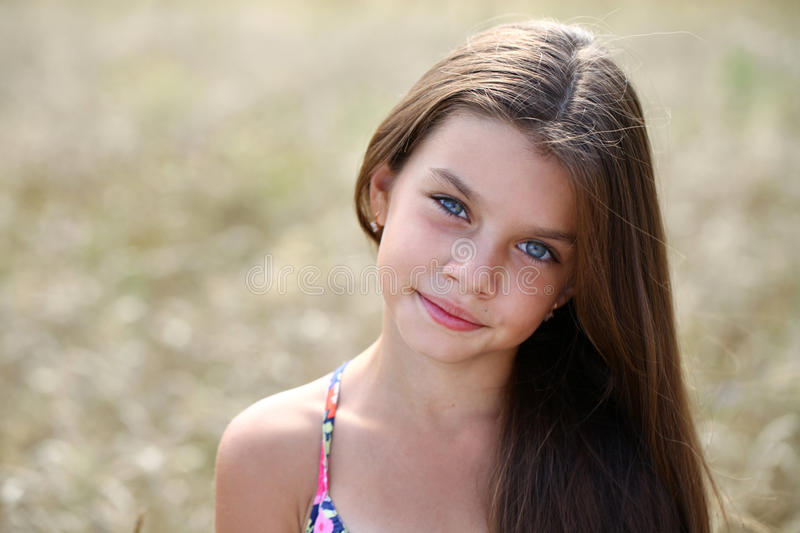 Portrait of a beautiful young little girl royalty free stock photography