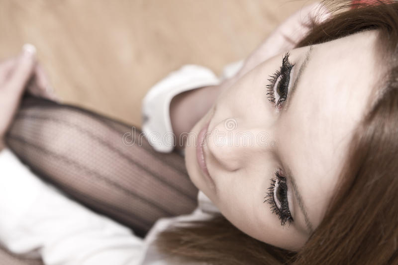Download Portrait Of Beautiful Young Woman Stock Image - Image: 27394451