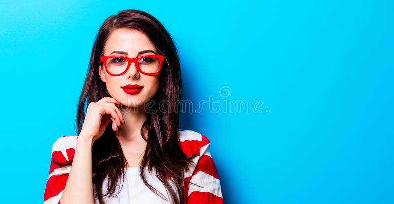 Portrait of the young woman royalty free stock photo